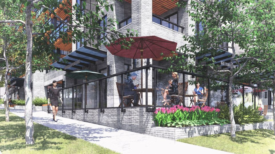 Seymour Estates Anthem rendering cafe
