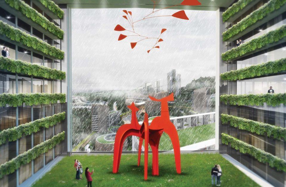 Sky Garden with Public Art + Amenities
