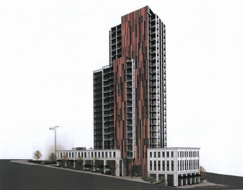 901 Lougheed Hwy tower rendering