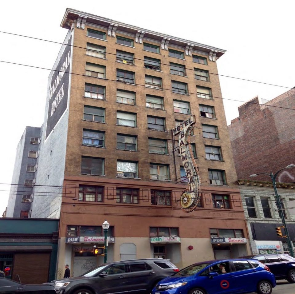 Balmoral Hotel Downtown Eastside