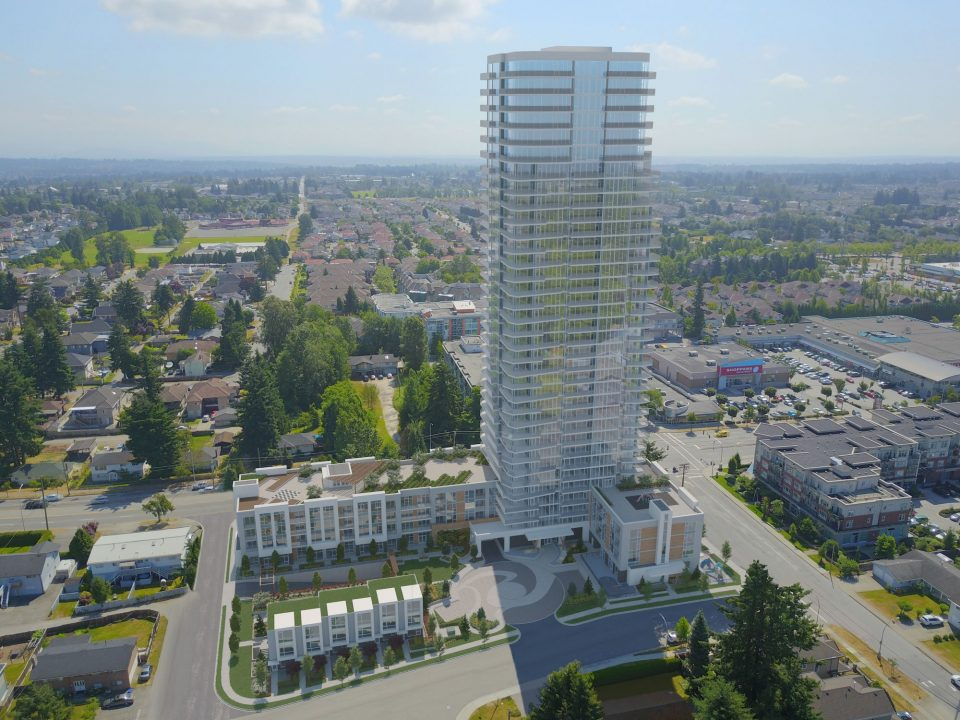 Hari Homes North Delta tower rendering