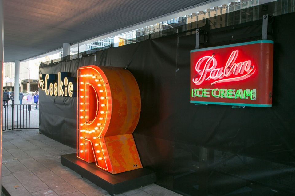 Neon signs Vancouver The Post Ridge sign