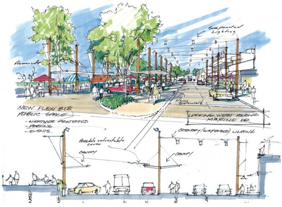 Potential Marine Drive and parking lot improvements