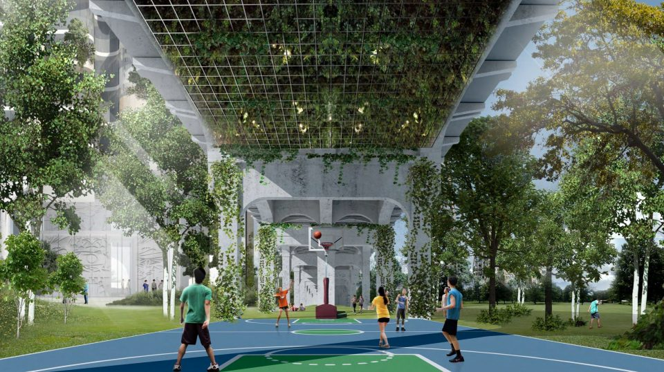 Squamish Nation basketball court rendering