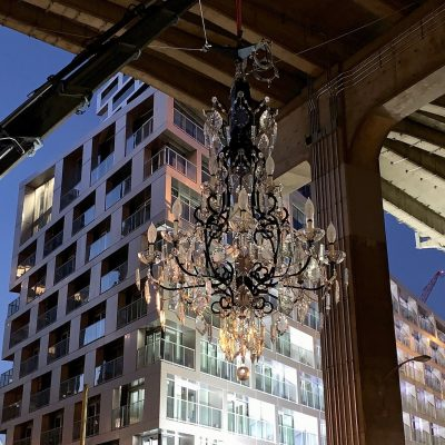 Vancouver House chandelier installation