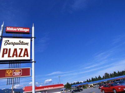 Burquitlam Plaza sign