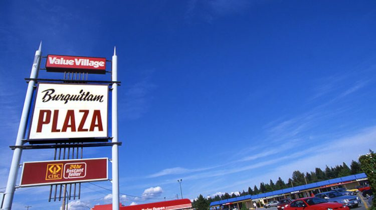 Burquitlam Plaza sign