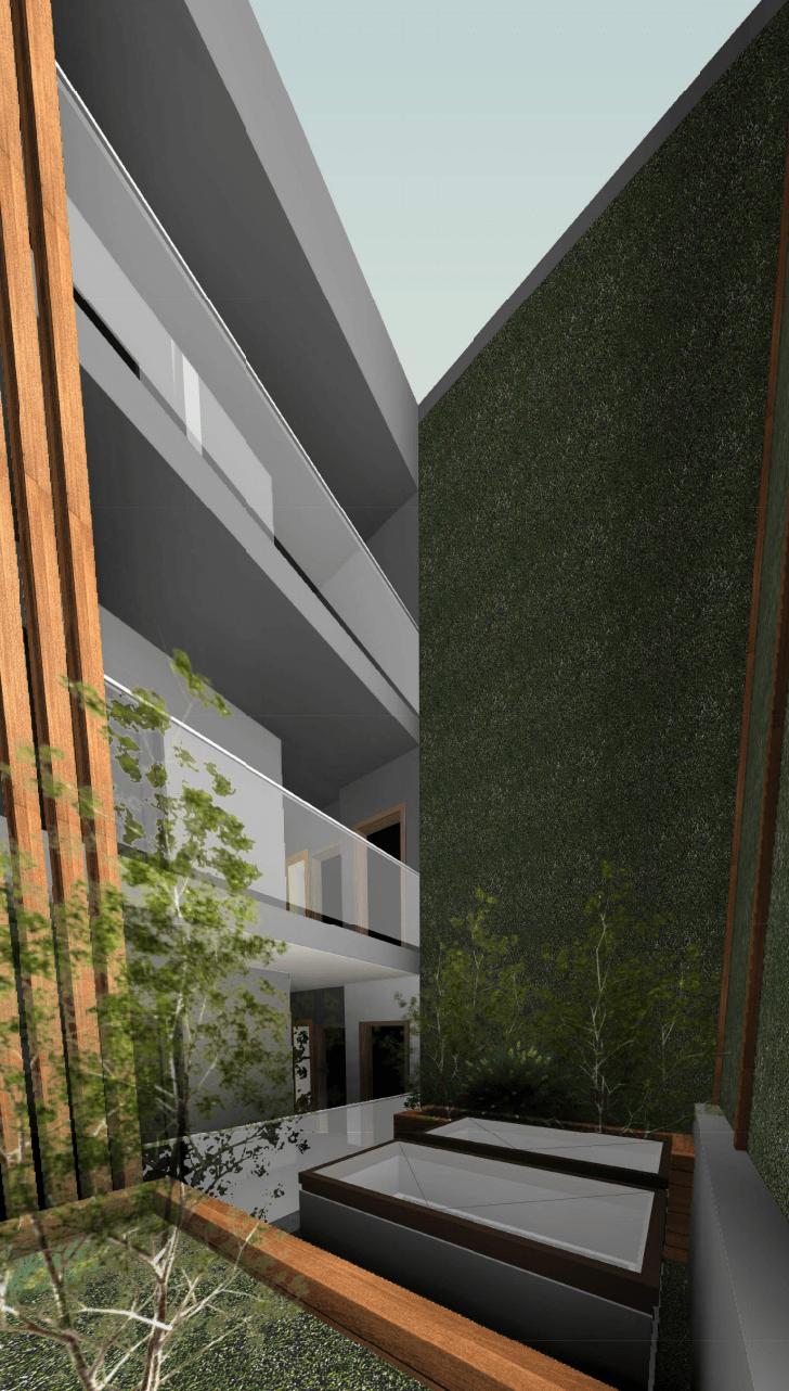 3327 Kingsway courtyard