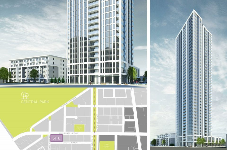 Anthem plans 43-storey tower at Willingdon and Maywood