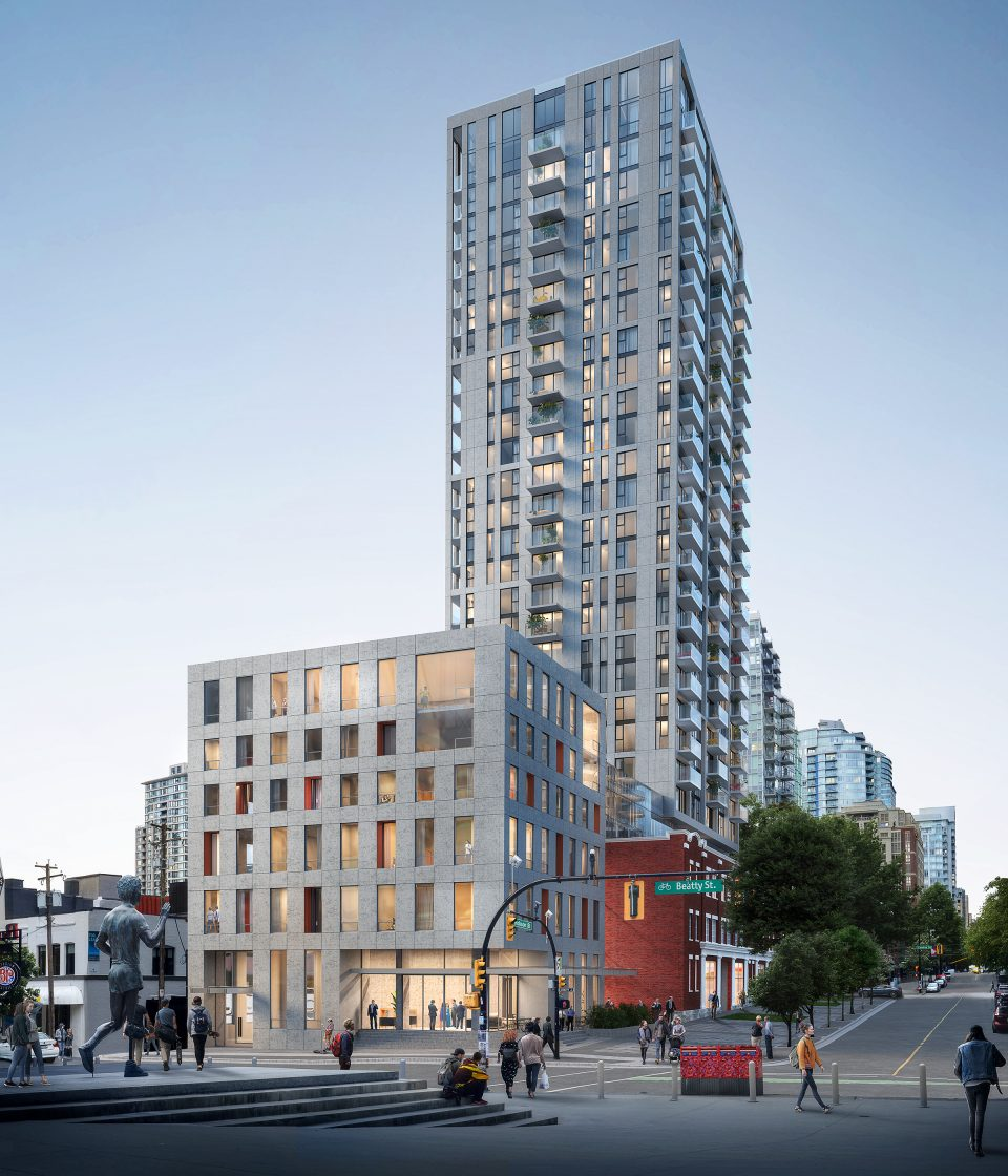 Hotel, residential tower at 150 Robson receives unanimous UDP approval