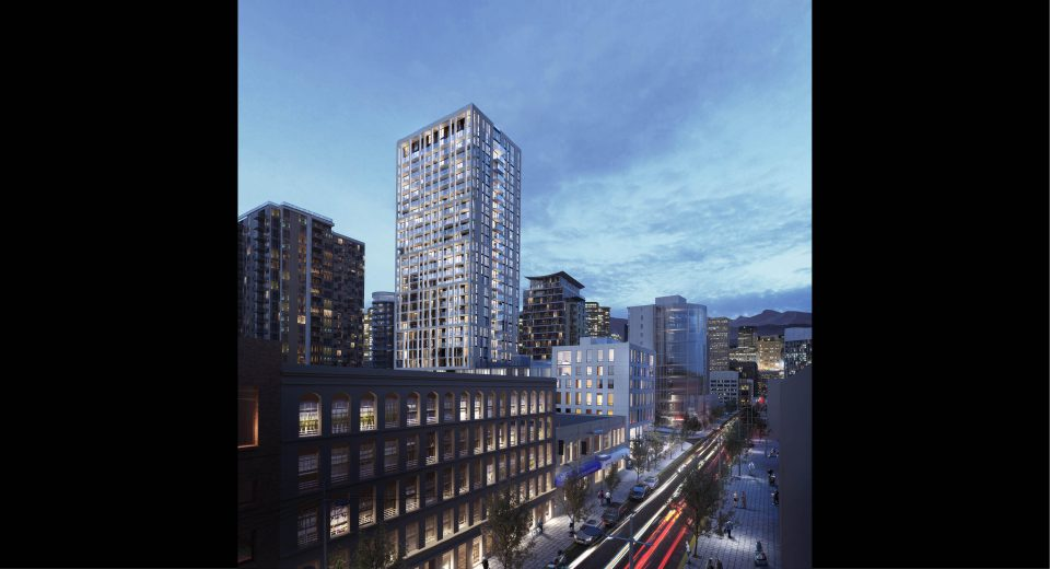 GBL 150 Robson rendering tower