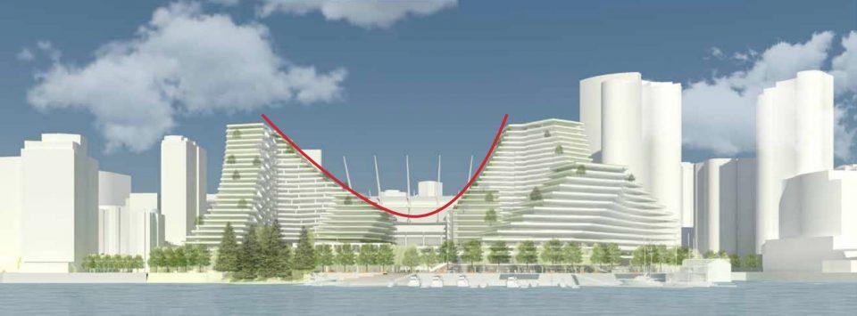 Plaza of Nations development north