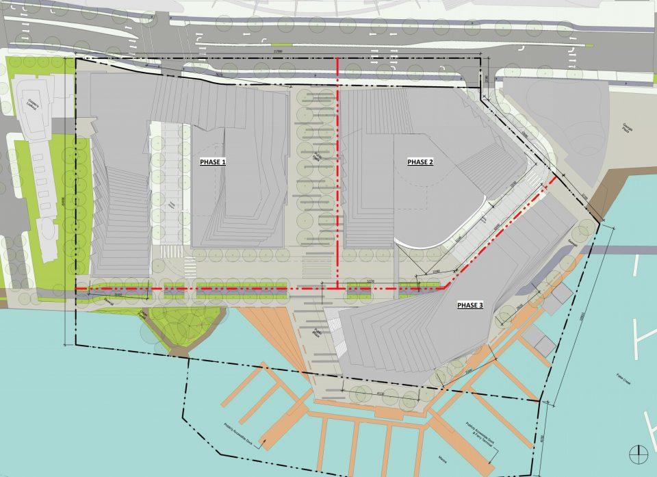 Plaza of Nations development phasing