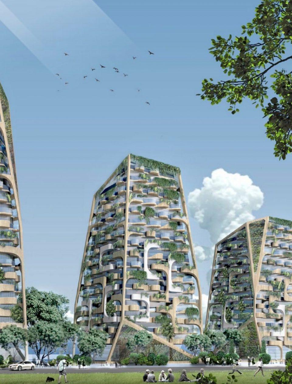 Sen̓áḵw Lands development rendering