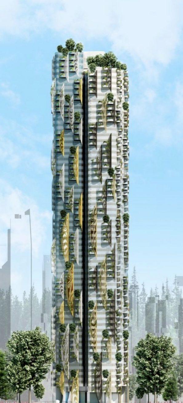 Sen̓áḵw Lands full tower rendering