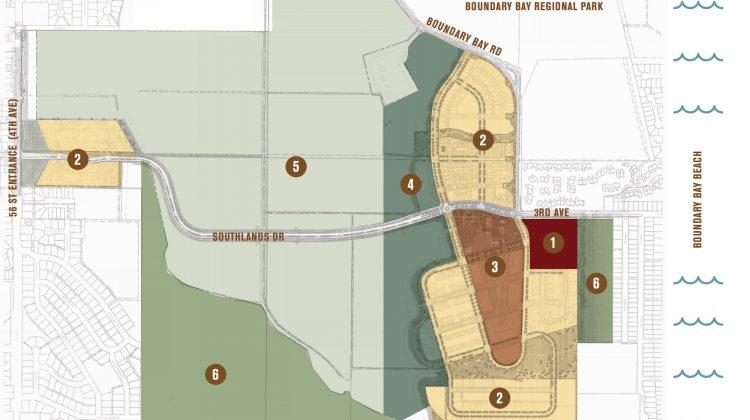 Southlands Tsawwassen map
