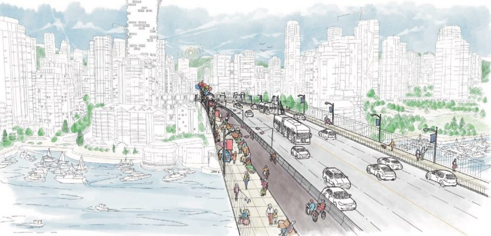 Preferred design for Granville Street Bridge bike lane selected