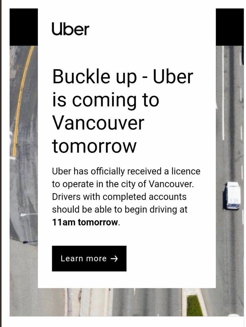 Uber launches in Vancouver