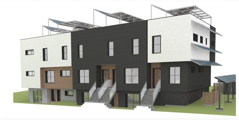 Stacked townhouses for West 29th and Heather