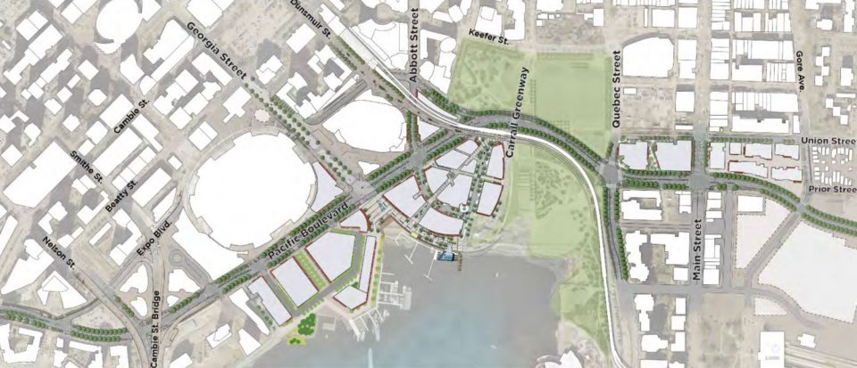 New street network in Northeast False Creek