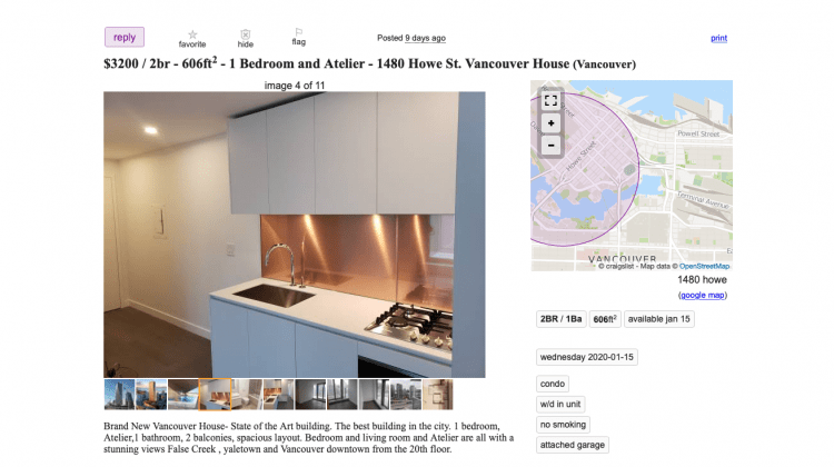 Vancouver House apartments for rent