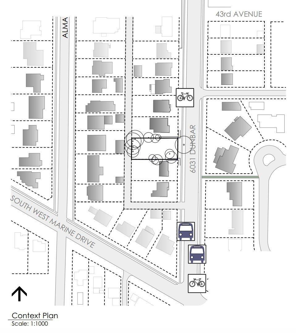 6031 Dunbar Street context plan