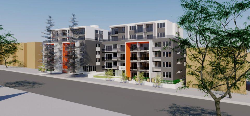 8636-8656 Oak Street rendering