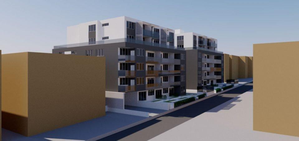 8636-8656 Oak Street rendering laneway