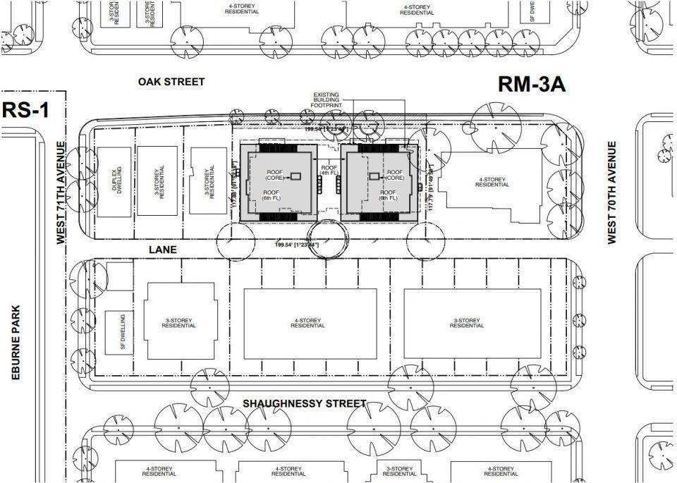 8636-8656 Oak Street site plan