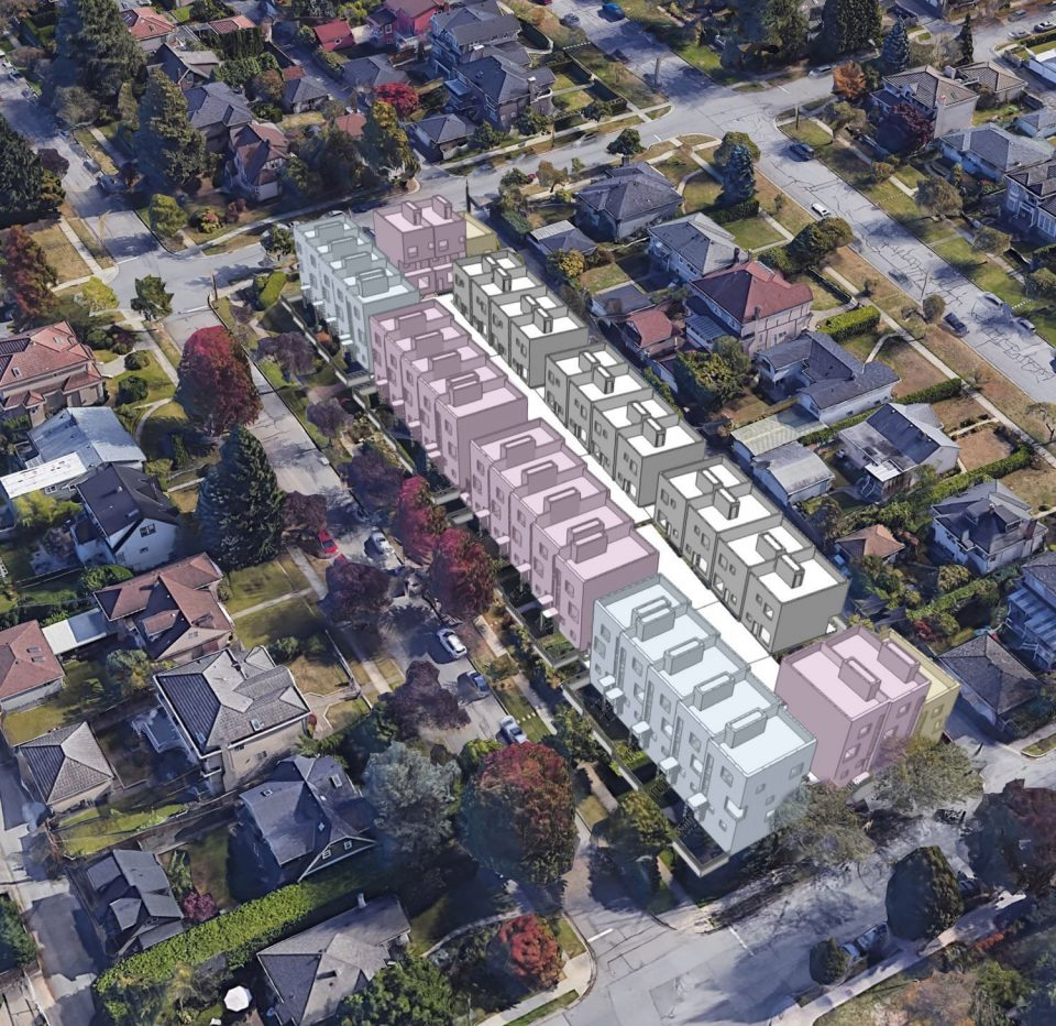 62 townhouses to replace six single-family homes in Cambie Corridor