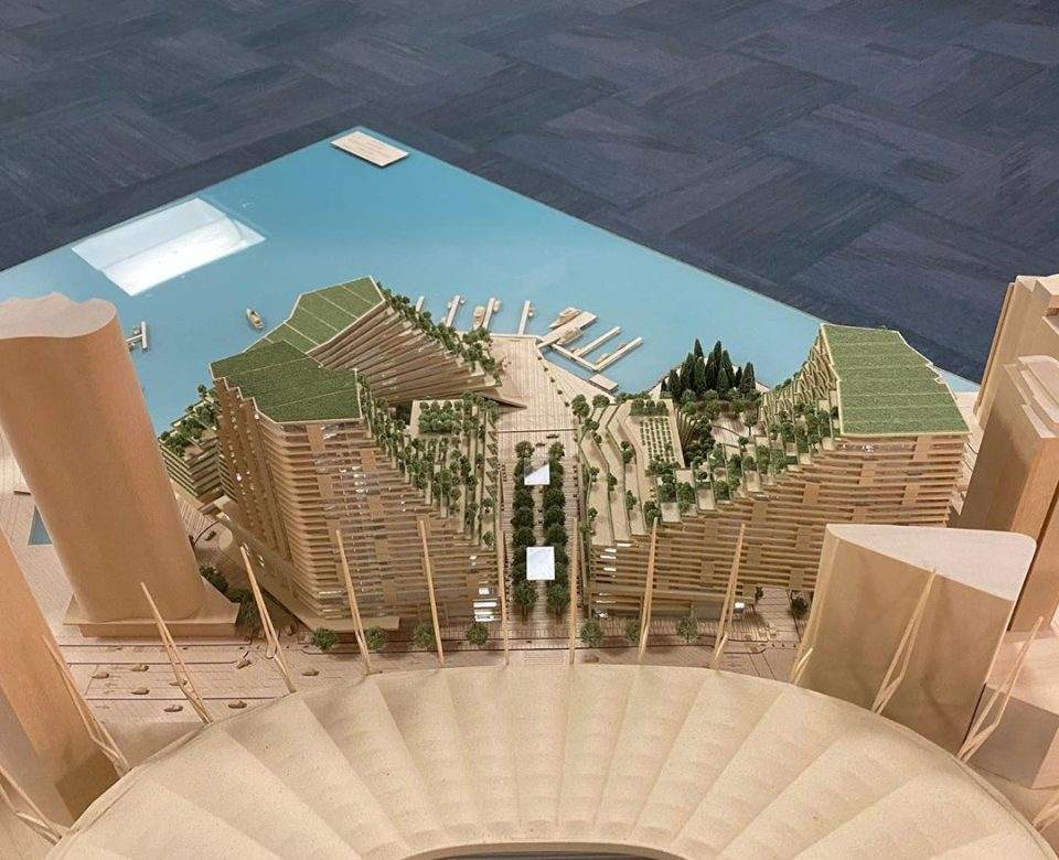 Plaza of Nations redevelopment building models