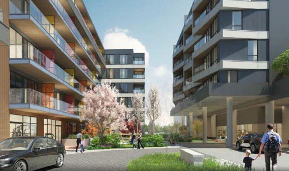 Building rendering courtyard