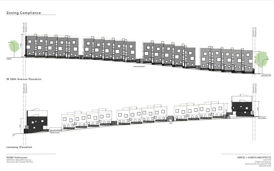 Stacked townhouses 628 West 28th Avenue