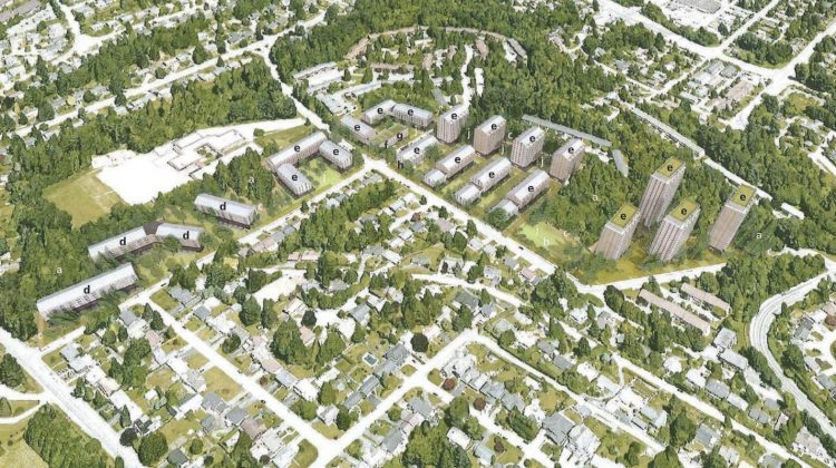 Woodland Park aerial view