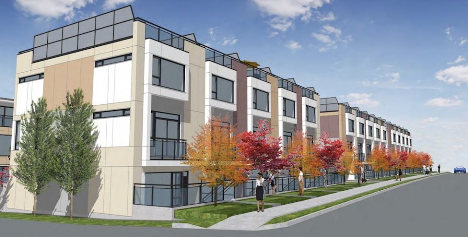 Cambie Corridor townhomes rendering