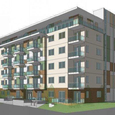 East Broadway and Garden building rendering