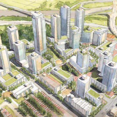 Completion of master plan rendering