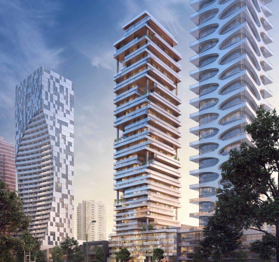 Fresh renderings of 43-storey Alberni Street tower