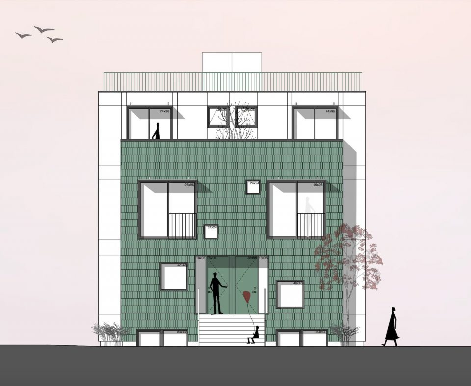Glazed green brick to adorn Commercial Drive townhouses