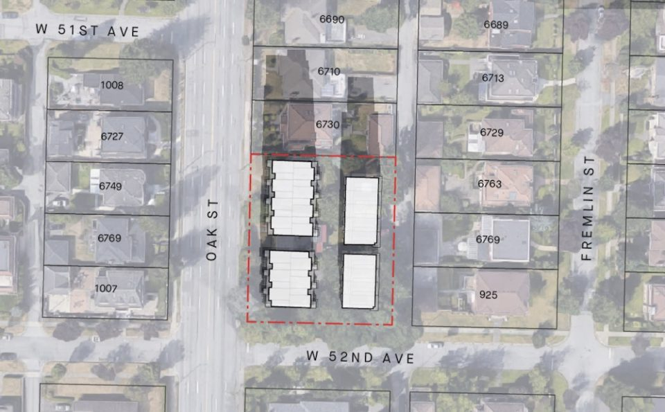 Oak and 52nd townhouse site