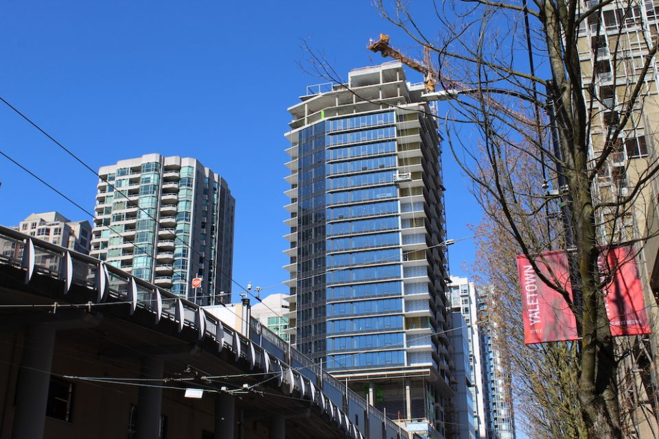 Looking north from Cambie Street