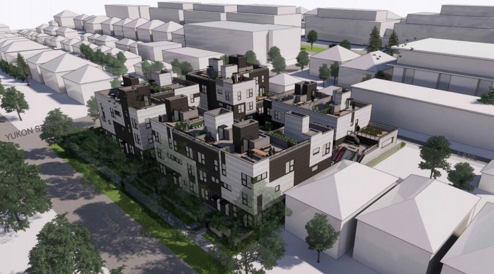 Townhouses with lock-off suites proposed at W. 23 & Yukon