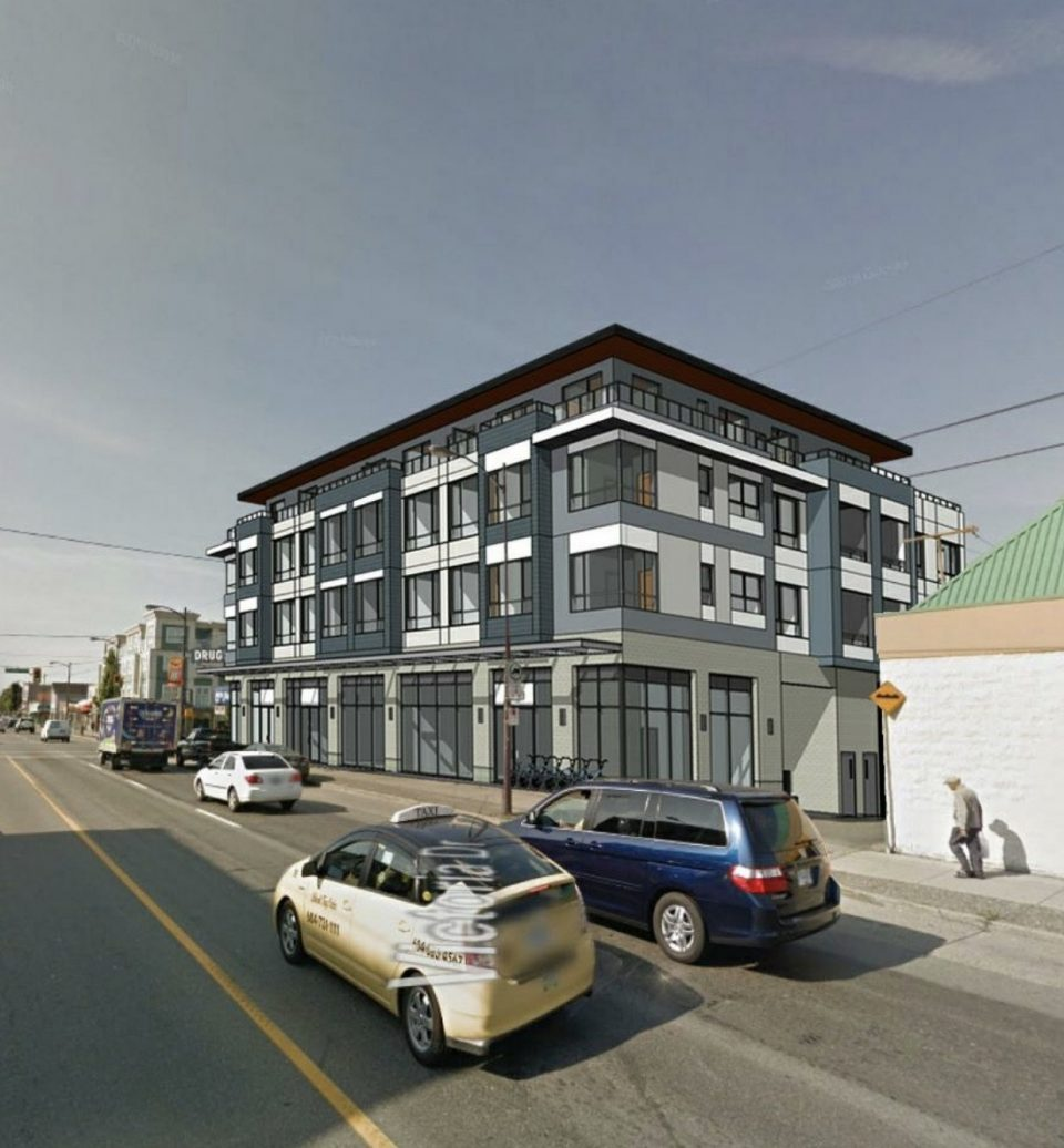 Apartments over retail for East 49th & Victoria Drive