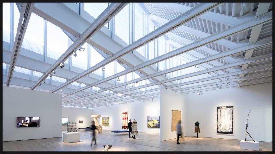 Second floor of Polygon Gallery