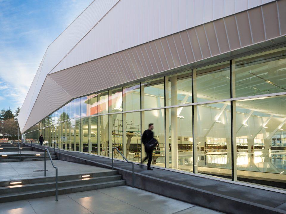 UBC Aquatic Centre exterior - 2020 Governor General's Medals in Architecture winner