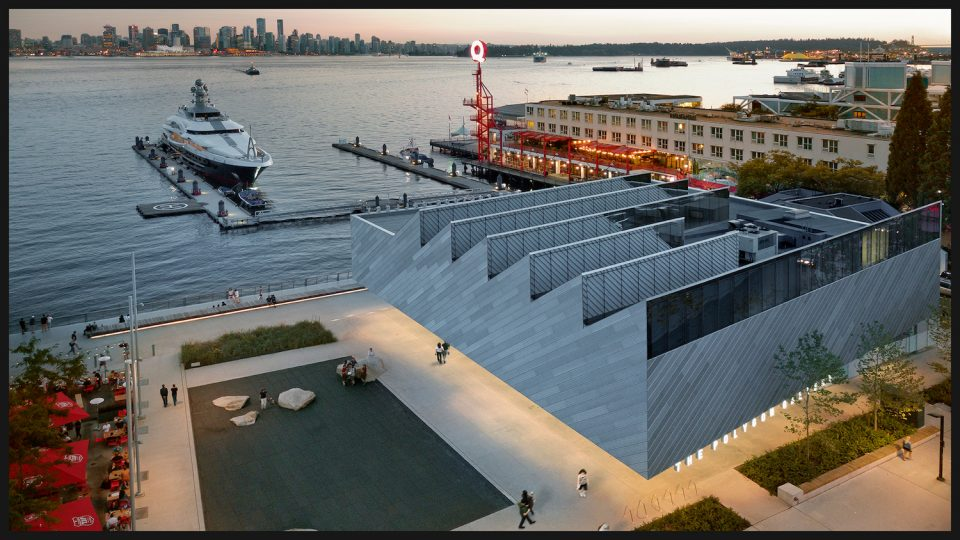 View of Polygon Gallery towards downtown Vancouver