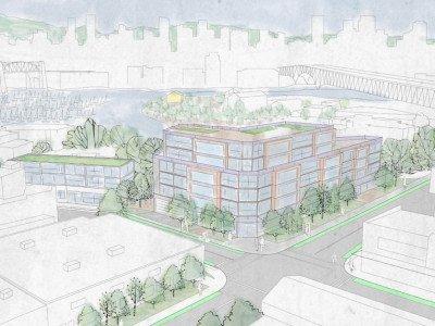 Conceptual lands building rendering