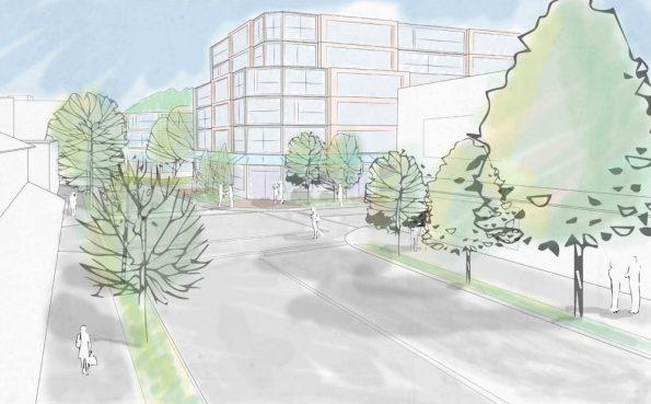 Conceptual building rendering