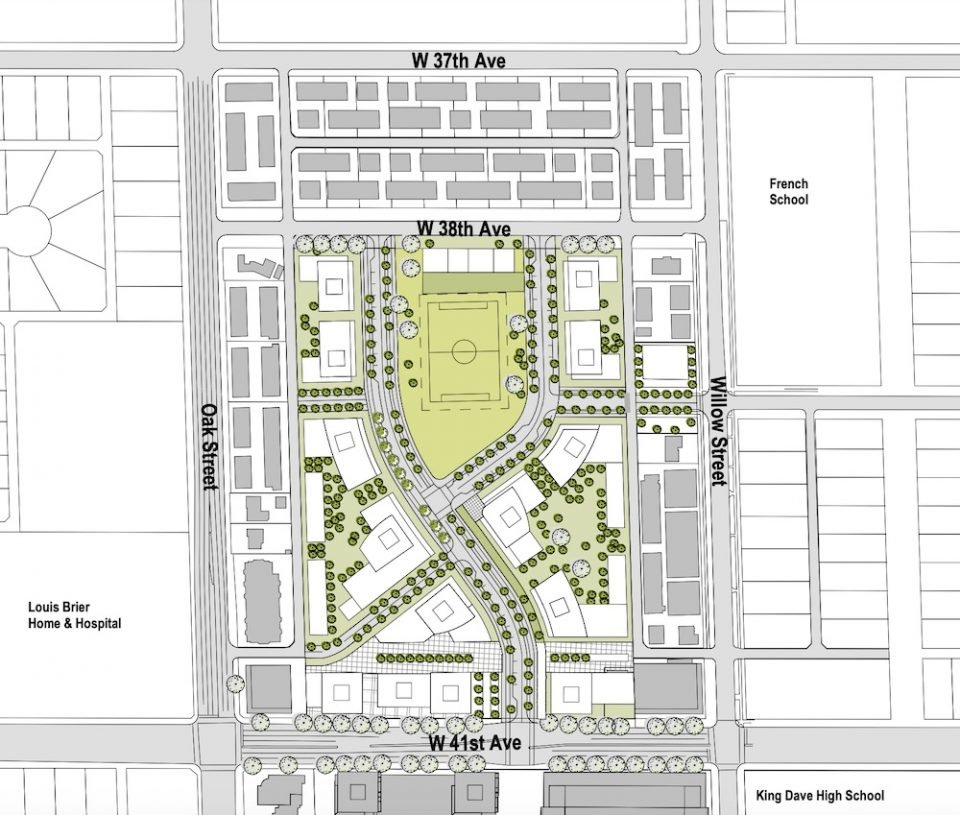 Context plan for Oakridge Transit Centre redevelopment