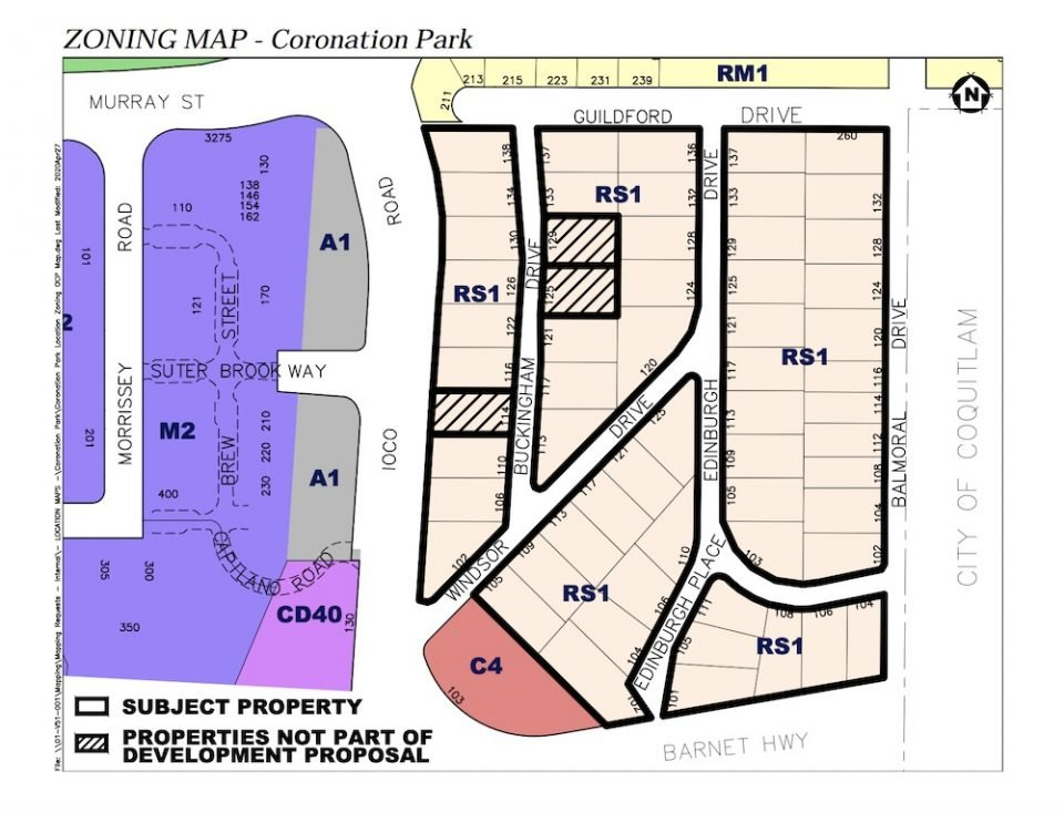 Coronation Park redevelopment map